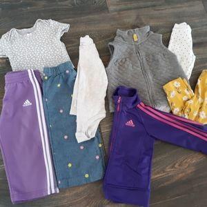 18M Adidas and Carters Bundle